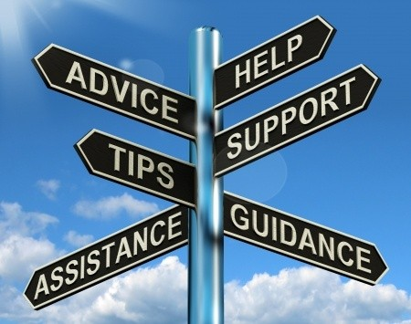 Advice Help Support Tips Guidance Assistance